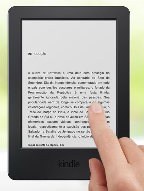 Novo Kindle com tela sensível ao toque está disponível